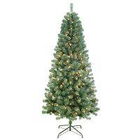 St. Nicholas Square 7-ft. Balsam Fir Pre-Lit Slim Artificial Christmas Tree + $10 Kohls Cash