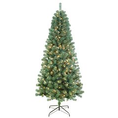 St. Nicholas Square® 7-ft. Balsam Fir Pre-Lit Slim Artificial Christmas Tree