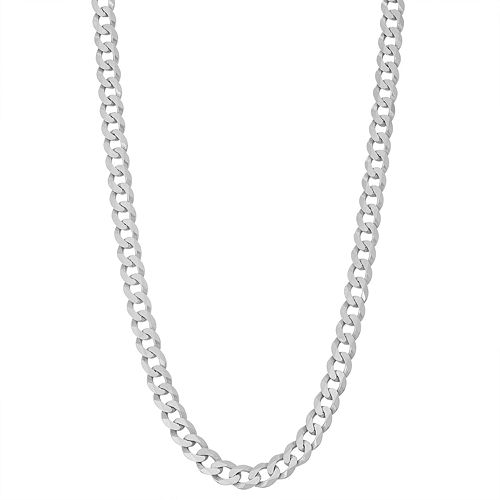 Men's Sterling Silver Cuban Curb Chain Necklace by