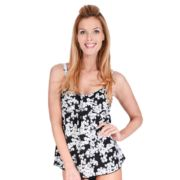 Women's Mazu Swim Tummy Slimmer Floral Tankini Top