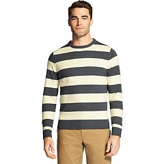 Men's IZOD Newport Classic-Fit Rugby-Striped Crewneck Sweater