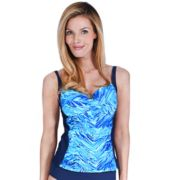 Women's Mazu Swim Bust Enhancer Twist-Front Tankini Top