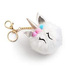 Mudd® Unicorn Pom Pom Key Chain