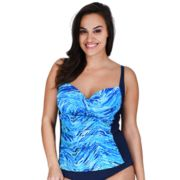 Plus Size Mazu Swim Bust Enhancer Twist-Front Tankini Top