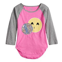 Girls 7-16 & Plus Size SO® Flip Sequin Varsity Tee