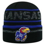 Adult Top of the World Kansas Jayhawks Effect Beanie