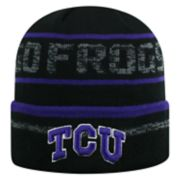Adult Top of the World TCU Horned Frogs Effect Beanie