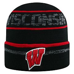 Adult Top of the World Wisconsin Badgers Effect Beanie