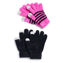 Girls 4-16 SO® 2-pack Chelinne Tech Touch Gloves