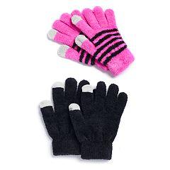 Girls 4-16 SO® 2-pack Chelinne Tech Touch Gloves