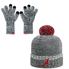 Adult Top of the World Alabama Crimson Tide Beanie & Gloves Set