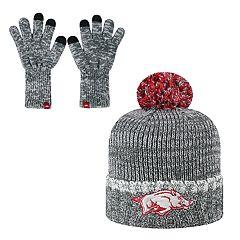 Men's Top of the World Arkansas Razorbacks Frostbite Knit Hat & Gloves Set