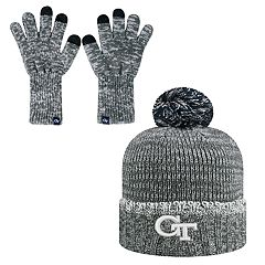 Adult Top of the World Georgia Tech Yellow Jackets Frostbite Beanie & Glove Set