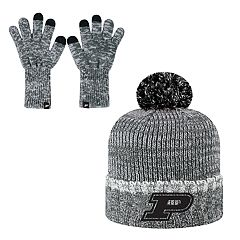 Adult Top of the World Purdue Boilermakers Beanie & Gloves Set