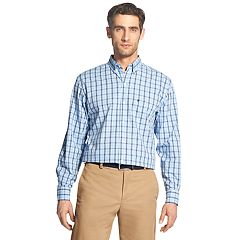 Men's IZOD Premium Essentials Classic-Fit Plaid Stretch Button-Down Shirt