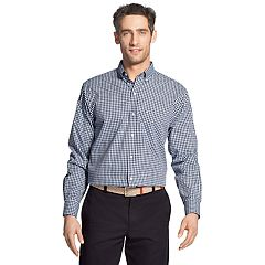 Men's IZOD Premium Essentials Classic-Fit Plaid Button-Down Shirt