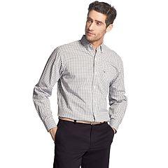 Men's IZOD Premium Essentials Classic-Fit Plaid Button-Down Shirt