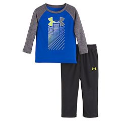 Baby Boy Under Armour Big Logo Raglan Top & Pants Set