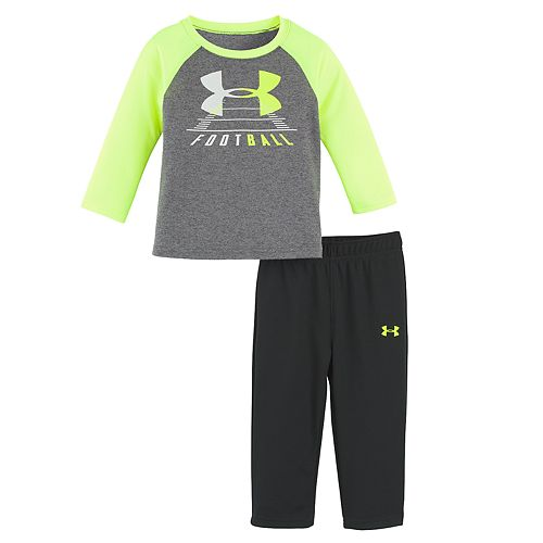 Baby Boy Under Armour 2-pc. Football Raglan Top & Pants Set