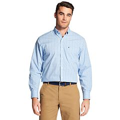 Men's IZOD Premium Essentials Classic-Fit Plaid Stretch Button-Down Shirt