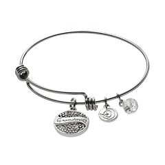 love this life Crystal 'Grandma' Charm Bangle Bracelet