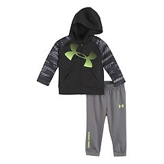 Baby Boy Under Armour Logo Zip Hoodie & Pants Set