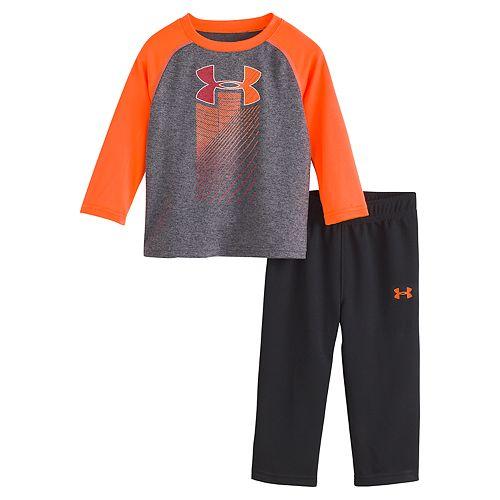 Baby Boy Under Armour Raglan Tee & Pants Set