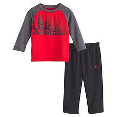 Baby Boy Under Armour Raglan Tee & Pants Set