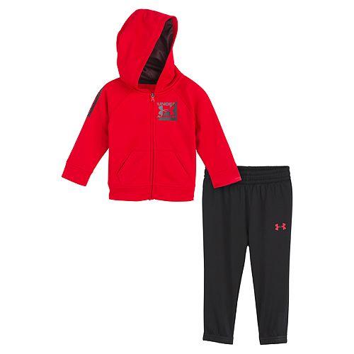 Baby Boy Under Armour Zip Hoodie & Pants Set