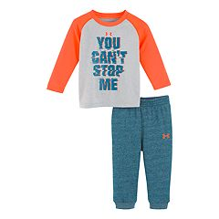 Baby Boy Under Armour Raglan Top & Pants Set