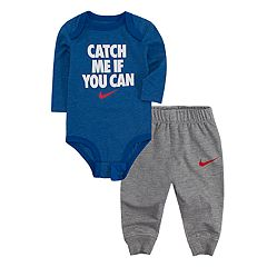 Baby Boy Nike 'Catch Me If You Can' Bodysuit & Jogger Pants Set