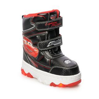 Disney / Pixar Cars Lightning McQueen Toddler Boys' Light Up Winter Boots
