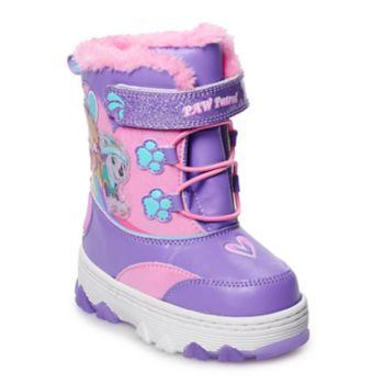 Paw Patrol Skye & Everest Toddler Girls' Light Up Winter Boots