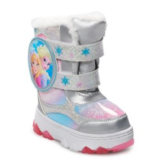 Disney's Frozen Anna & Elsa Toddler Girls' Light Up Winter Boots