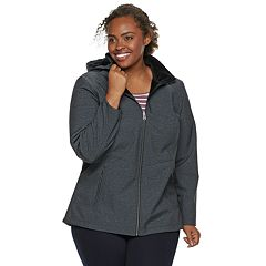 Plus Size ZeroXposur Lillian Hooded Soft Shell Jacket