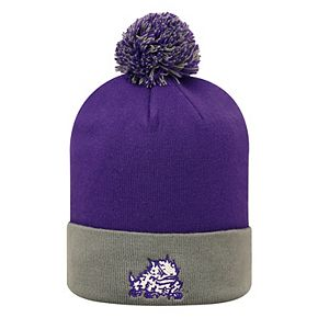 Adult Top of the World TCU Horned Frogs Pom Beanie