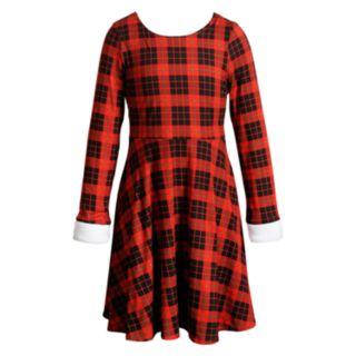 Girls 7-16 Emily West Faux-Fur Trim Reversible Dress