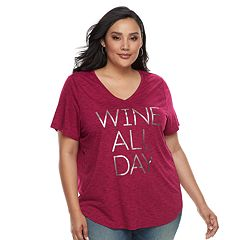 Plus Size Apt. 9® Graphic V-Neck Tee