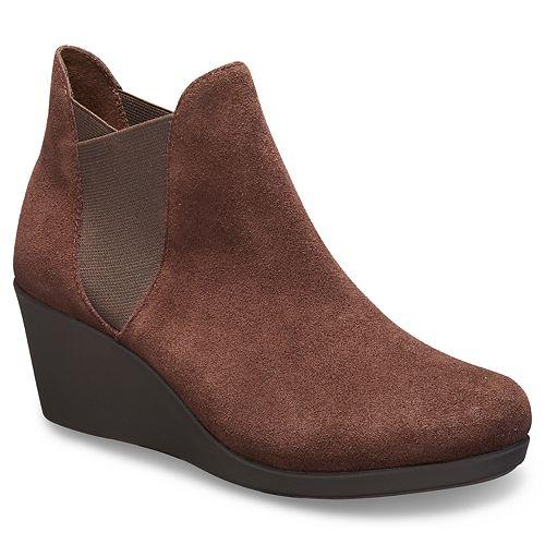 Crocs Leigh Women's Chelsea Wedge Boots