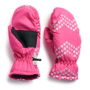Girls 4-16 SO® Faux-Sequin Chevron Ski Mittens