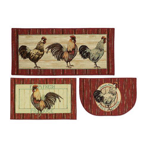 Mohawk Home Free Range Rooster Kitchen Rug