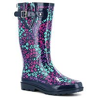 Western Chief Floral Camoflauge Women's Waterproof Rain Boots