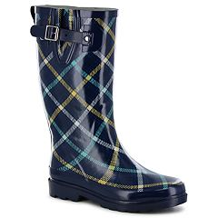 Western Chief Petite Plaid Women's Waterproof Rain Boots