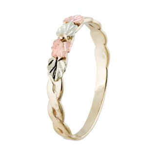 Black Hills Gold Tri-Tone Leaf Ring