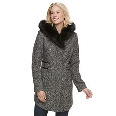 Women's d.e.t.a.i.l.s Faux-Fur Hooded Walker Jacket