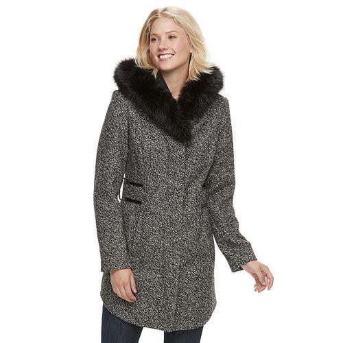 Women's d.e.t.a.i.l.s Faux-Fur Hooded Walker Jacket