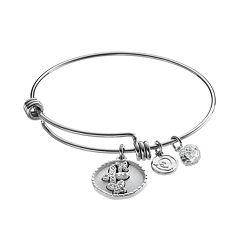 love this life Crystal 'Mother Daughter' Butterfly Charm Bangle Bracelet
