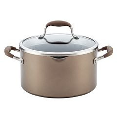 Anolon Advanced Hard-Anodized Nonstick 6-quart Covered Stockpot with Locking Straining Lid