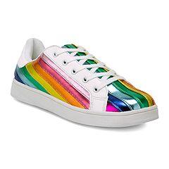 Wanted Women's Multi Stripe Sneakers