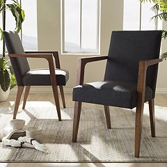 Baxton Studio Andrea Mid-Century Accent Chair 2-piece Set